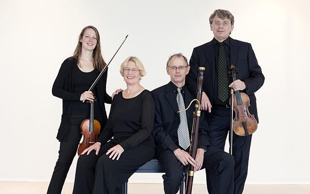 Apollo Ensemble (quartet) speelt muziek van Bach, Händel en Telemann